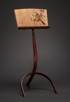 """Music Stand - Bird on Apple Branch,"" by Matthew Werner, now exhibiting on ElegantArtisan.com!"
