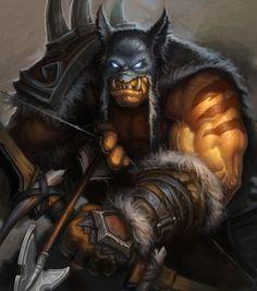 Illustration de Ben Thompson - Pubg, Fortnite and Hearthstone Warcraft Film, World Of Warcraft 3, Warcraft Characters, Warcraft Art, Fantasy Characters, Character Portraits, Character Art, Character Inspiration, Character Design