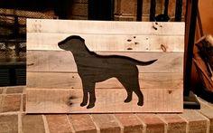 "Pallet labrador retriever wall art. 22"" x 16"""