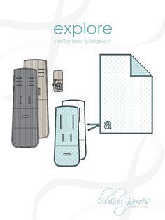 Explore stroller liner & blanket pattern on Craftsy.com