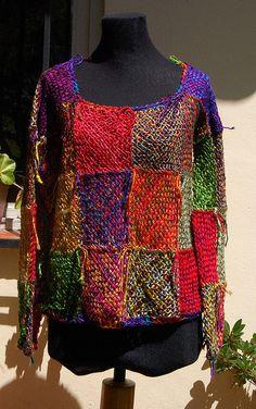 Pin Weaving, Loom Weaving, Big Knits, Weaving Textiles, Casual Tops For Women, Knit Or Crochet, Loom Knitting, Beautiful Crochet, Handmade Clothes