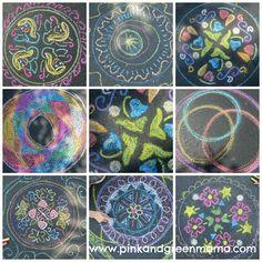 Chalk Mandalas - Pink and Green Mama: Ravensburger Mandala Designer Kit Review and Aquarelle Kit GIVEAWAY!