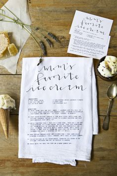 Custom Recipe Card + Cloth / keepsake gift that celebrates your grandmother's best recipe