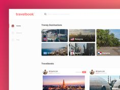 "Check out this @Behance project: ""Travelbook - Travel Influencer Community"" https://www.behance.net/gallery/52061195/Travelbook-Travel-Influencer-Community"