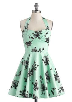 It's MINT and has ROSES. Shut up and take my money. Traveling Cupcake Truck Dress in Mint Roses, #ModCloth