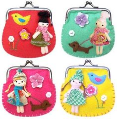 This Dolly clip purse is a great gift for you or friends. Comes in a variety of colours, pink, green, yellow or red. Pick your favourite dolly!