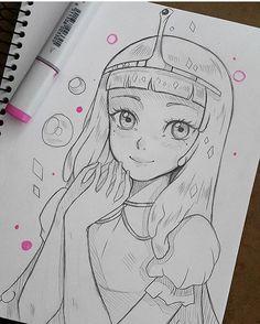 Manga Drawing Book Lovely Princess Bubblegum by Larienneviantart On Cartoon Cartoon, Easy Cartoon Characters, Anime Drawing Books, Manga Art, Princess Bubblegum, Princess Celestia, Art Drawings Sketches Simple, Cute Drawings, Easy Manga Drawings