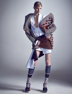 Desconstruindo A Geixa: Nastya Sten By Zee Nunes For Vogue Brazil April 2015