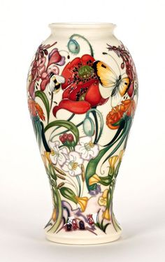 moorcroft pottery - vase