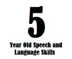 5 Year Old Speech And Language Skills - Speech and Language Kids Activities For 5 Year Olds, Speech Therapy Activities, Language Activities, Speech Language Pathology, Speech And Language, Language Development, 5 Year Old Development, Speech Delay, Receptive Language