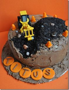 construction cake for construction birthday party