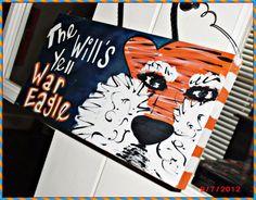 Auburn War Eagle wood sign 5.5x11. $15.00, via Etsy.