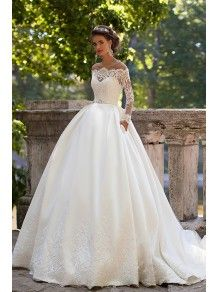 b997b61a304f Ball Gown Long Sleeves Off-the-Shoulder Lace Wedding Dresses Bridal Gowns  4301006