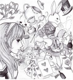 33 Best Alice In Wonderland Drawings Images Alice In Wonderland