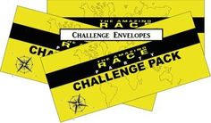 Amazing Race party supplies and invitations!