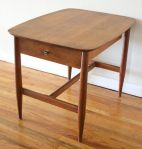 Mid Century Modern Side Table with Drawer