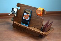 Secret Santa gift for gadget organizers - cell phone docking station, watch holder, key keeper and wallet tray