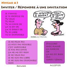 La classe de Fabienne: Inviter et répondre à une invitation