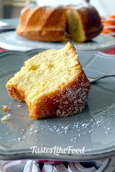 A uniquely flavored and aromatic orange pound cake with a touch of lavender and assorted flower spices. Cake Tasting, Pound Cake, Sour Cream, Lavender, Tasty, Treats, Snacks, Baking, Orange