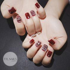 Một trong những mẫu nails yêu thích nhất của TTL 😍😍😍 #ttlnails ----------------------------- Dịch vụ làm móng F Glam Nails, Red Nails, Beauty Nails, Hair And Nails, Gorgeous Nails, Love Nails, Pretty Nails, Karma Nails, Indian Nails