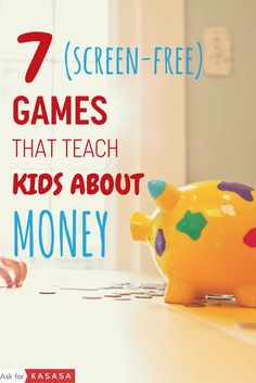 Parents give your kids a head start in personal finance. These interactive screen-free games will get your kids thinking about money in a healthy wa Money Activities, Money Games, Teaching Kids Money, Teen Money, How To Teach Kids, Educational Games For Kids, Family Budget, Financial Literacy, Head Start