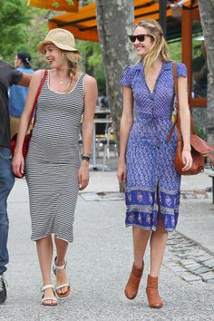 Victoria's Secret Angels Candice Swanepoel and Doutzen Kroes take a leisurely walk following lunch in New York's West Village.