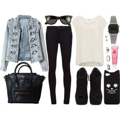 A fashion look from March 2014 featuring Pull&Bear blouses, Vince jeans and Giuseppe Zanotti ankle booties. Browse and shop related looks.