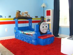 Thomas The Tank Engine Bedroom, This is my two year old sons new bedroom.  He loves trains and all things that are Thomas and Friends.  The theme for his bedroom is Thomas and Friends., Thomas The Tank Engine Bedroom, Boys Rooms Design