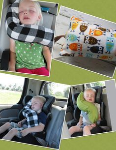 erGO BABY Bendable baby / toddler headrest carseat pillow and cover in night owls