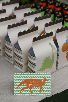 Dinosaur Party GOODIE BAGS FOR 1ST BIRTHDAY BABY MASON ILL DO THIS