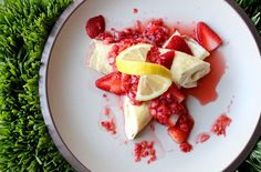 Easter breakfast....strawberry crepes