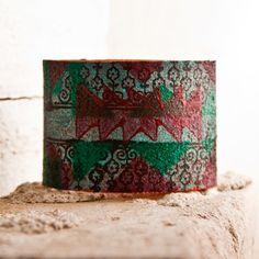 Geometric Design Pattern Jewelry Cuff OOAK by rainwheel on Etsy, $50.00