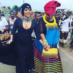 Isibaya actress Linda Mtoba recently wed her long time beau Steven Meyer. Take a look inside the gorgeous traditional wedding. African Wedding Theme, African Wedding Attire, African Attire, African Weddings, African Traditional Wedding Dress, African Fashion Traditional, Traditional Outfits, Traditional Weddings, Traditional Design