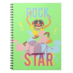 Animal - Rock Star Notebook Animal Muppet, Drum Music, Music Teacher Gifts, Music Lovers, Artwork Design, Thank You Cards, Geek Stuff, Notebook, Lettering