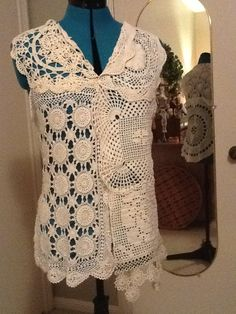 Vest I made from crocheted doilies