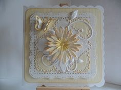 Memory Box Lovely Aster, Spellbinders Decorative Labels 1, Martha Stewart PATP Cherish, Cheery Lynn Fanciful Flourish, Die-namics butterfly, Scattered Straw distress ink, Pebbles and Dovecraft chalks, pearls from stash.