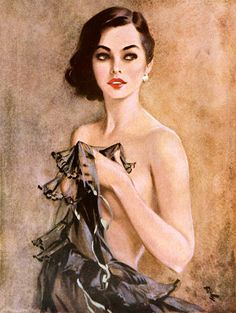 July 1953 ~ Vintage Pin-Up Erotic Art Print by David Wright Fine Art Prints, Canvas Prints, Framed Prints, Drawn Art, Alex Colville, David, Pin Up Art, Art Plastique, Erotic Art