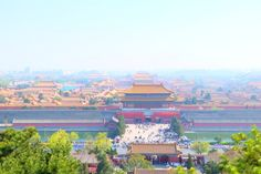 Forbidden city bird's eye view Beijing, China