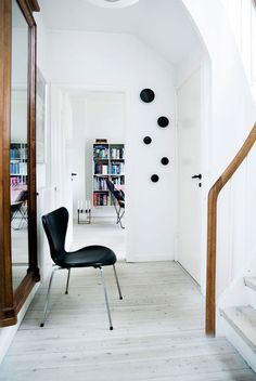 Black Arne Jacobsen chair & Muuto hooks