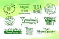 Organic / Natural Logo Design by Uniyok on @creativemarket