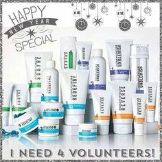 New Year's Special! Get on the path to great skin for 2016!    I am looking for 4 volunteers to try each of our Rodan + Fields regimen at my Consultant cost.  Rodan + Fields products are created by the same doctors that created Proactiv. In 2008, the doctors pulled out of high end retail stores like Nordstrom's and Bloomingdales to bring their incredible products to more people.  We have 4 main regimens based on multi-med therapy to help you skip a trip to the dermatologists