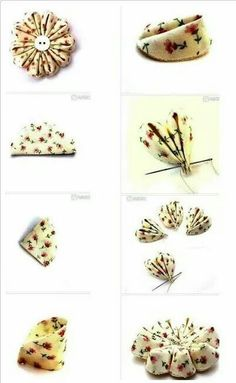 Best 12 Cloth flower making is fun and easy. These cloth flowers look so pretty and are great for adding to brooches, hair clips and necklaces. Ribon Flowers, Cloth Flowers, Kanzashi Flowers, Felt Flowers, Diy Flowers, Crochet Flowers, Fabric Flowers, Wreath Crafts, Flower Crafts