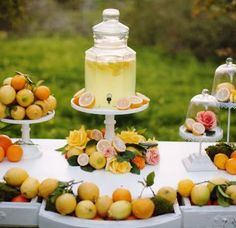A Summer Citrus Wedding - Venue at the Grove Mod Wedding, Elegant Wedding, Floral Wedding, Wedding Colors, Wedding Reception, Wedding Flowers, Wedding Ideas, Taupe Wedding, Reception Food