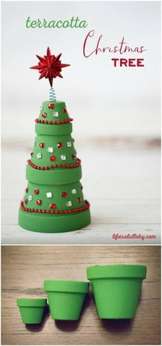 Don't you just love Christmas crafts? There is just something so fun about making decorations for the holidays. I always try to do a few different DIY Christmas decorations every year so that means that Potted Christmas Trees, Diy Christmas Garland, Christmas Crafts For Kids, Homemade Christmas, Diy Christmas Gifts, Christmas Projects, Holiday Crafts, Christmas Holidays, Christmas Clay