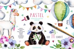 Pastel collection by Kate_Rina on @creativemarket