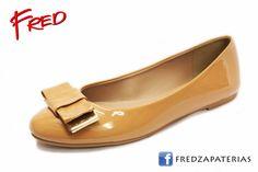 #FredZapaterias Flats, Coffi Du, color camel charol https://www.facebook.com/fred.zapaterias
