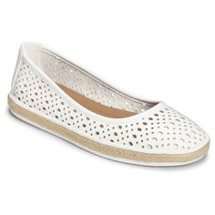 Women's A2 by Aerosoles Trust Fund Perforated Loafers - White 10.5