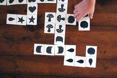 Imprima um dominó de formas e silhuetas!! | Reab.me