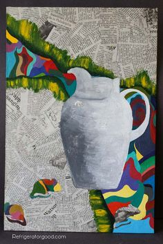 High School Art lesson: Mixed Media Painting [Art II class]