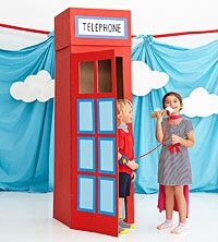 DIY Superhero Phone Booth (via Parents.com) // this would be so awesome for a birthday party